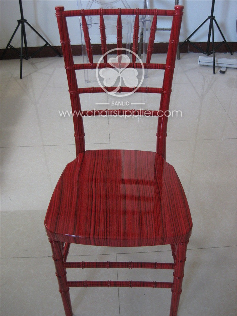 Resin chiavari Chair with WOOD GRAIN  090