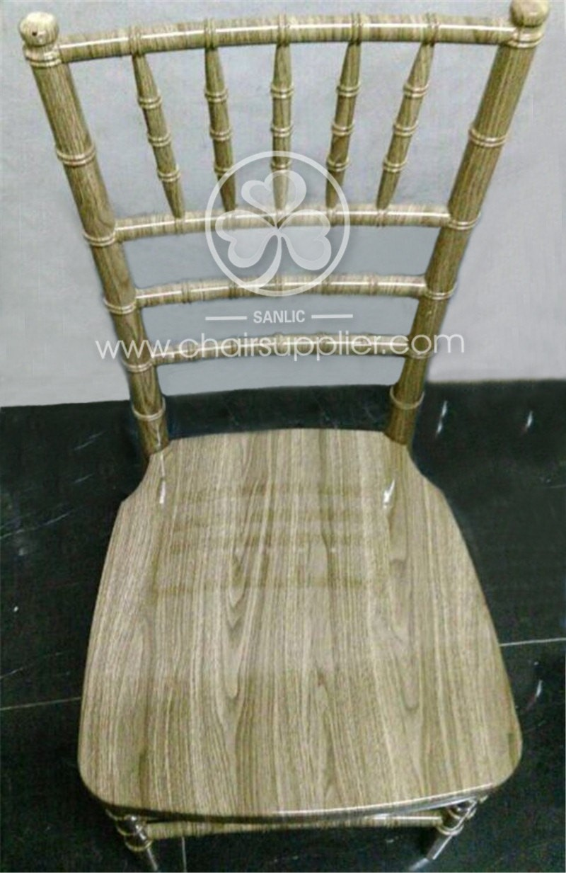 Resin chiavari Chair with WOOD GRAIN 086