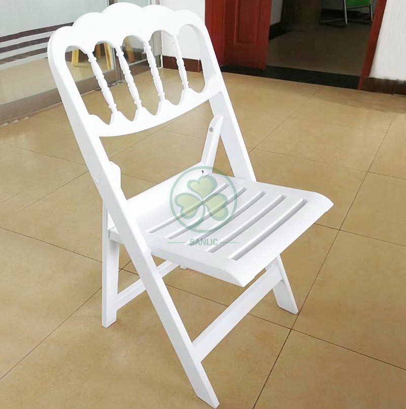 Resin Folding Chair with Slatted Seat 025