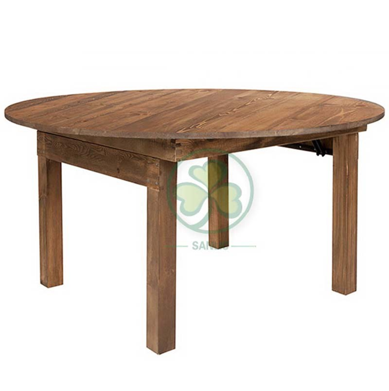 Wood Farmhouse Table for Events and Weddings  003
