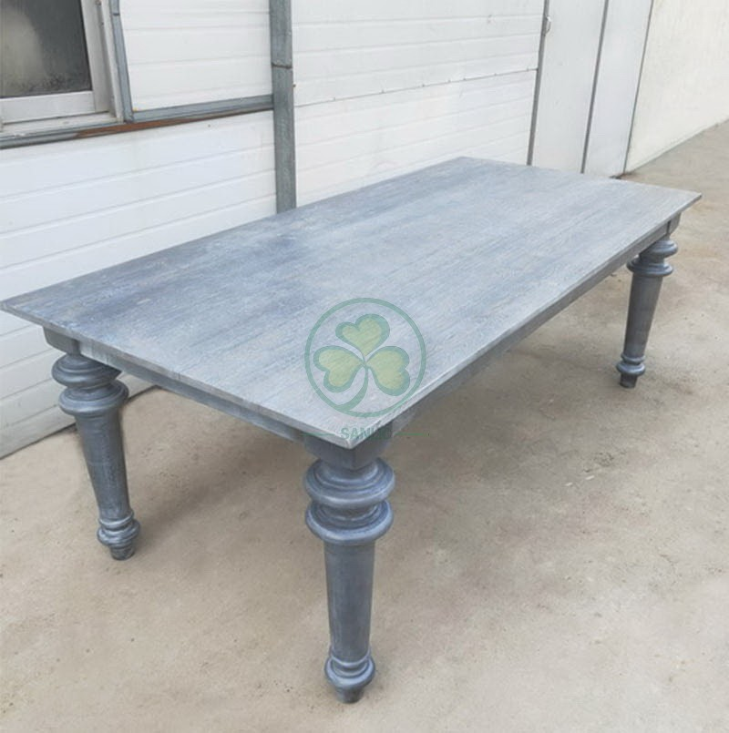 Wood Farmhouse Table for Events and Weddings  002
