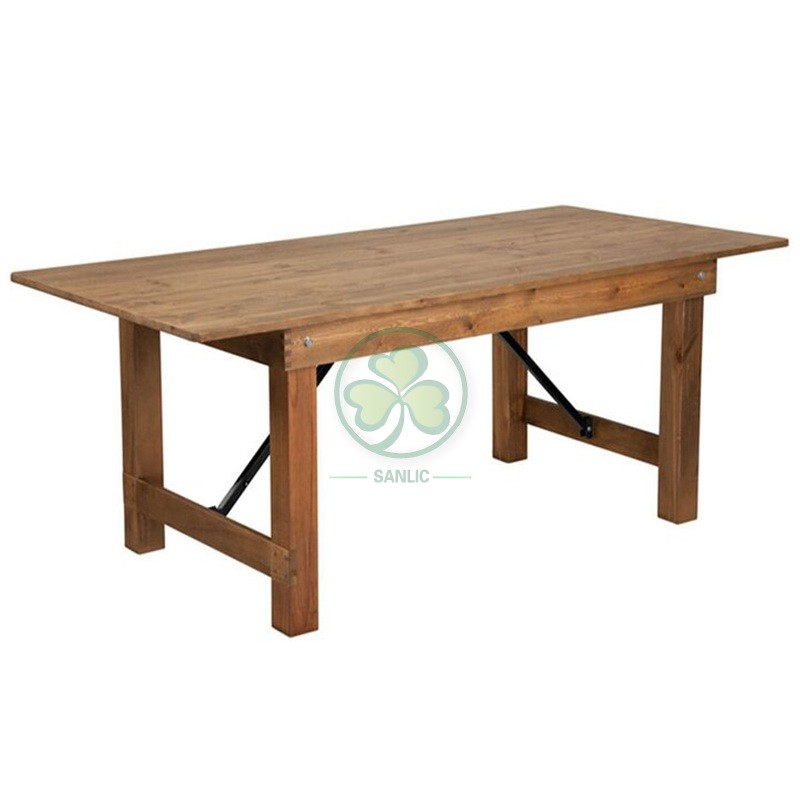 Wood Farmhouse Table for Events and Weddings  001