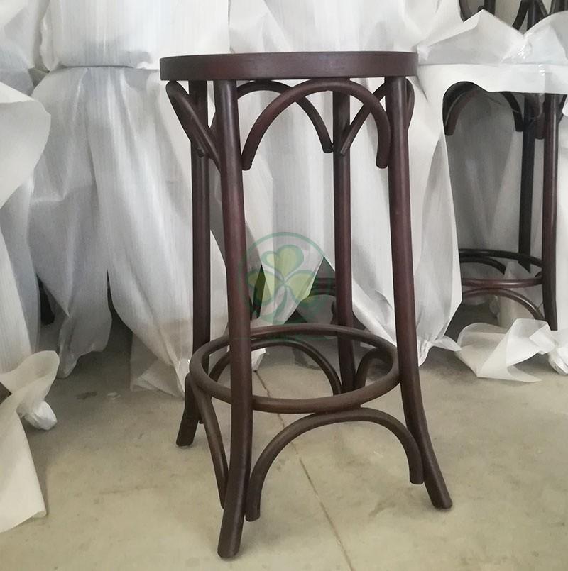 Wooden Round Bar Stool B 020
