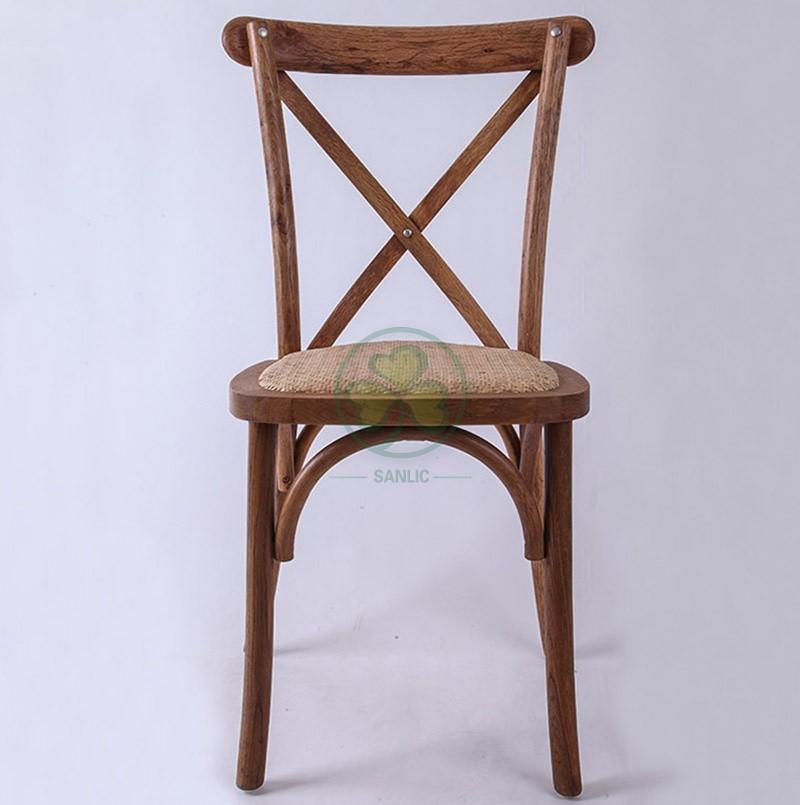 Wooden Cross Back Chair A 045
