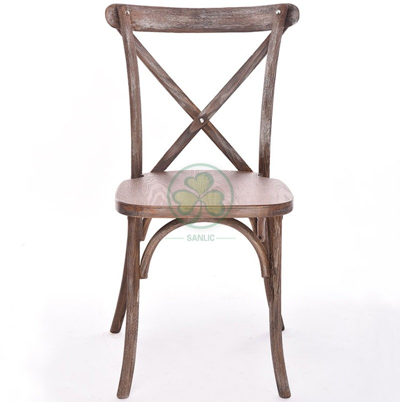 Wooden Cross Back Chair A 048