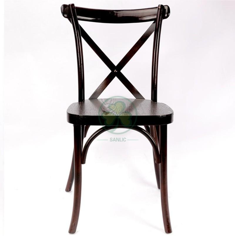 Wooden Cross Back Chair A 049